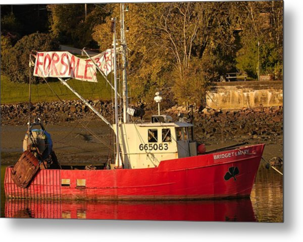 Lobster Boat For Sale Metal Print