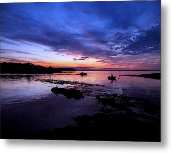 Lobster Boat Sunrise Metal Print