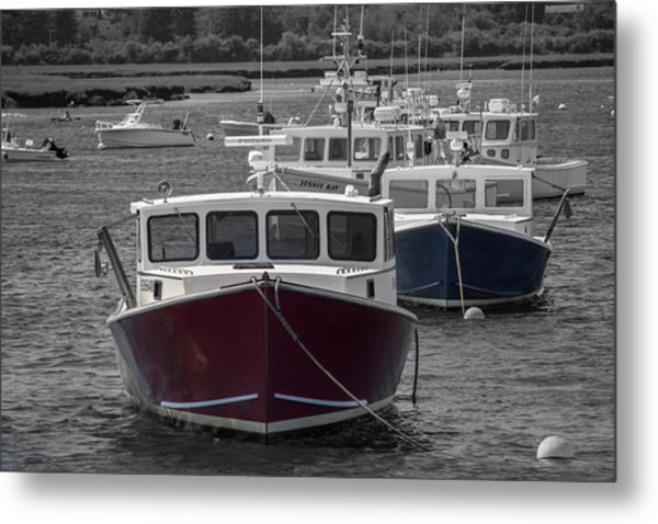 Lobster Boats Selective Color Metal Print