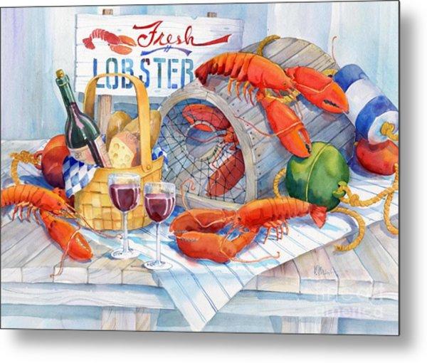 Lobsters Galore Metal Print