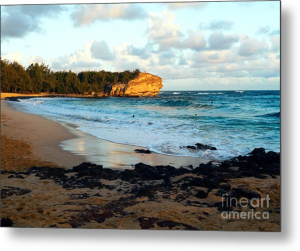 Local Surf Spot Kauai Metal Print