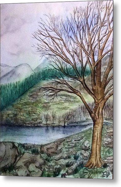 Loch Ard Stirling Overlooking Loch A'ghleannain Metal Print