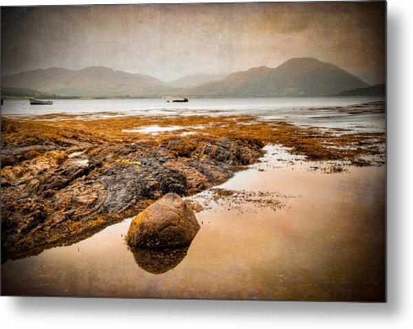 Loch Creran Coastline Metal Print