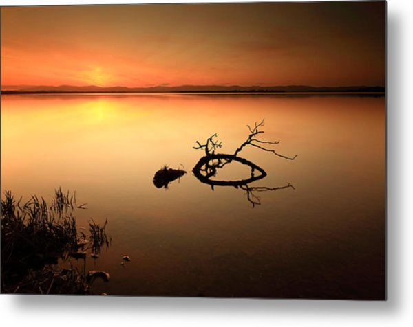 Loch Leven Sunset Metal Print