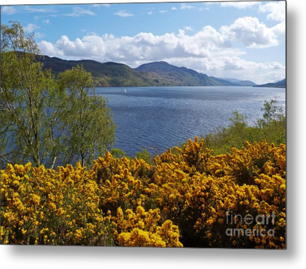 Loch Ness - Springtime Metal Print