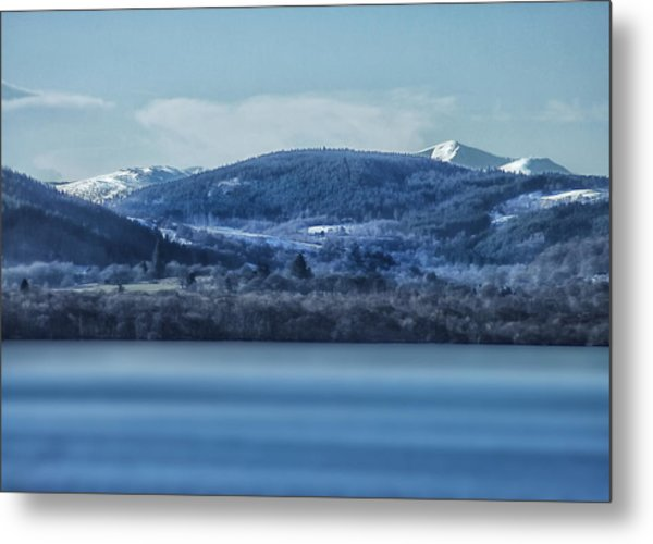 Loch Ness Winter Blues Metal Print