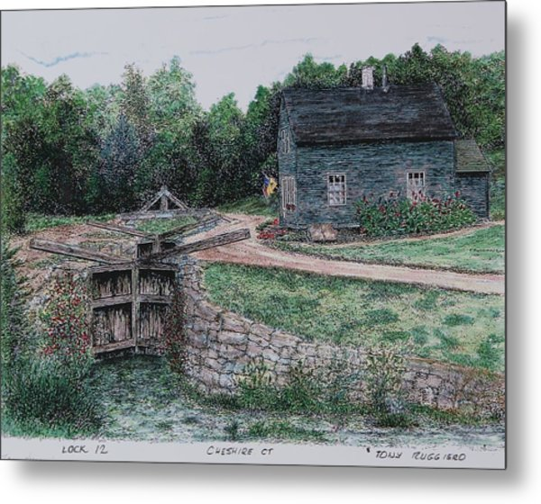 Lock 12 Color Metal Print