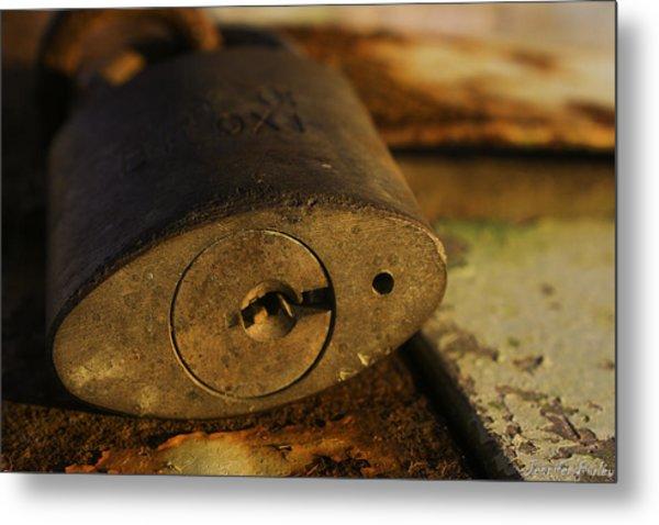 Lock Metal Print by Jennifer Burley