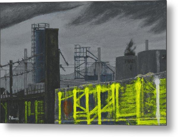 Lock Lane Acrylic On Canvas Metal Print
