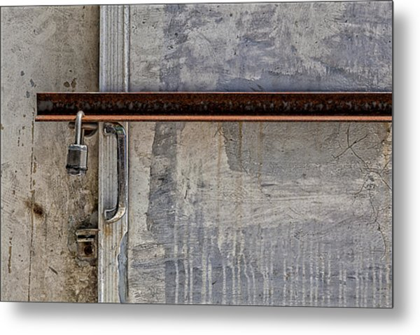 Locked And Barred Metal Print by Robert Ullmann