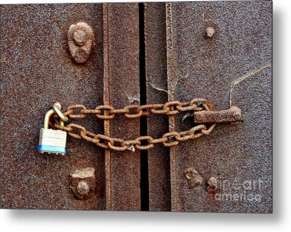 Locked Metal Print