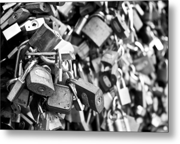 Locked Together Metal Print by Gabor Fichtacher