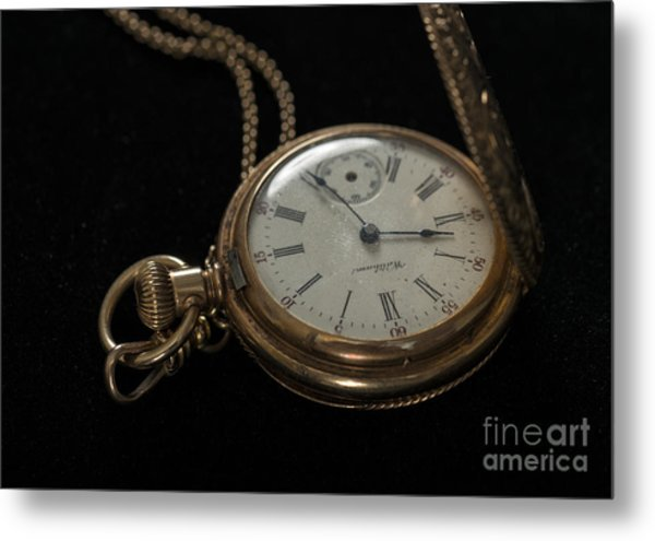 Locket Watch Metal Print