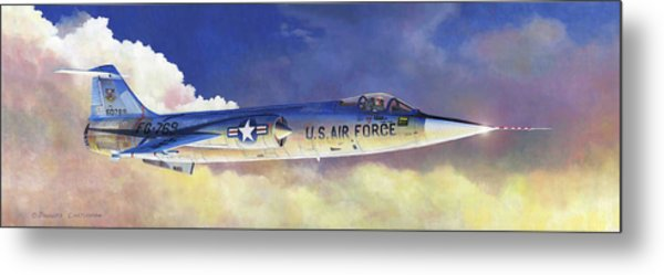 Lockheed F-104a Starfighter Metal Print
