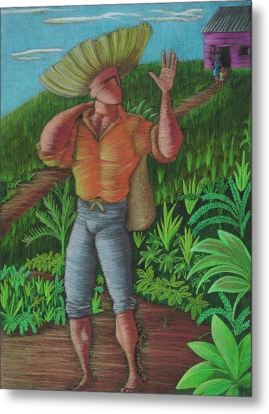 Metal Print featuring the painting Loco De Contento by Oscar Ortiz