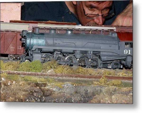 Locomotive 91 Metal Print by Hugh McClean