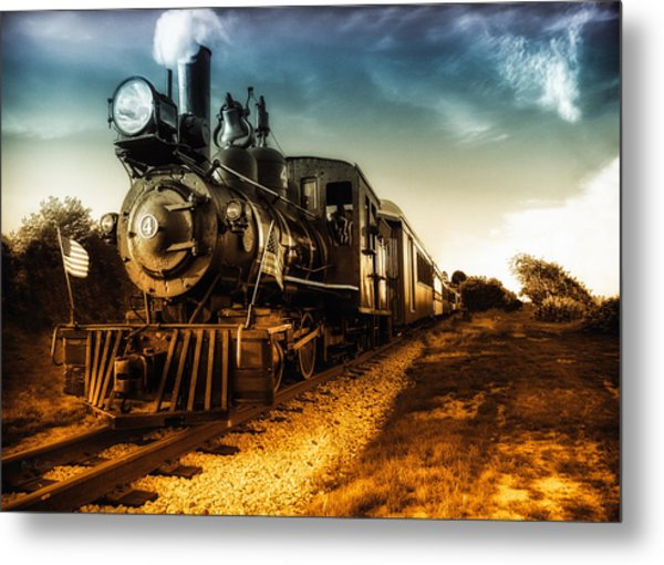 Locomotive Number 4 Metal Print