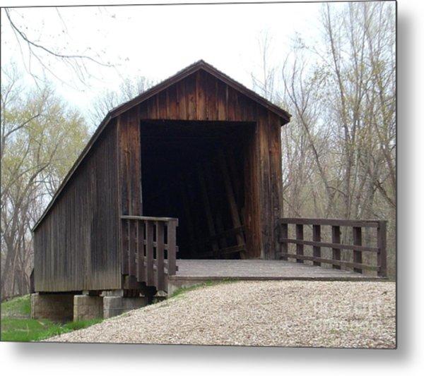 Locust Creek Covered Bridge Metal Print