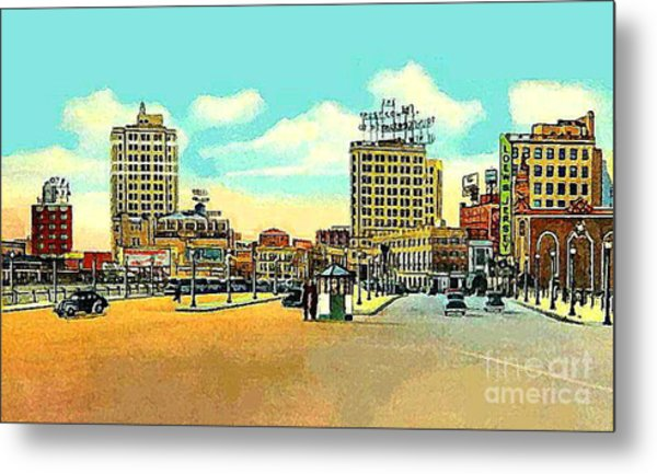 Loew's Jersey Theatre On Journal Square In Jersey City N J In The 1930s Metal Print