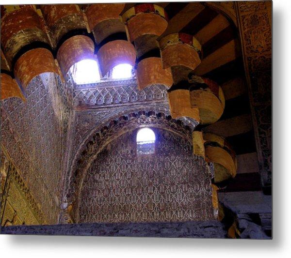 Lofty Arches - Mezquita Metal Print by Jacqueline M Lewis