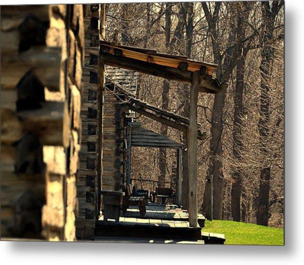 Log Cabins Metal Print