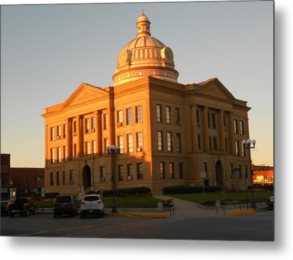Logan County Courthouse  Lincoln Metal Print