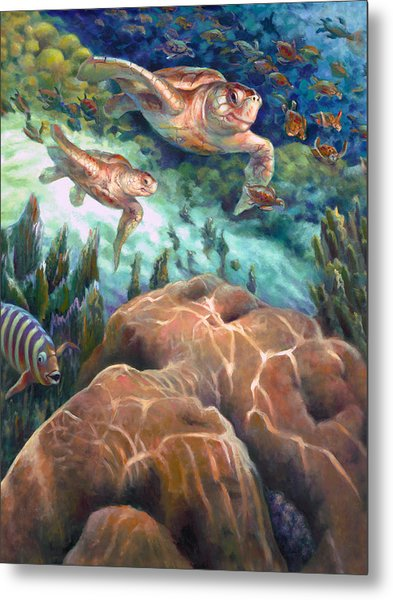 Loggerhead Sea Journey I Metal Print