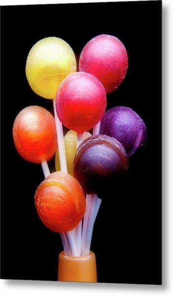 Lollipop Bouquet Metal Print