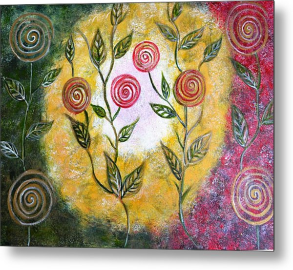 Lollipop Flowers Metal Print