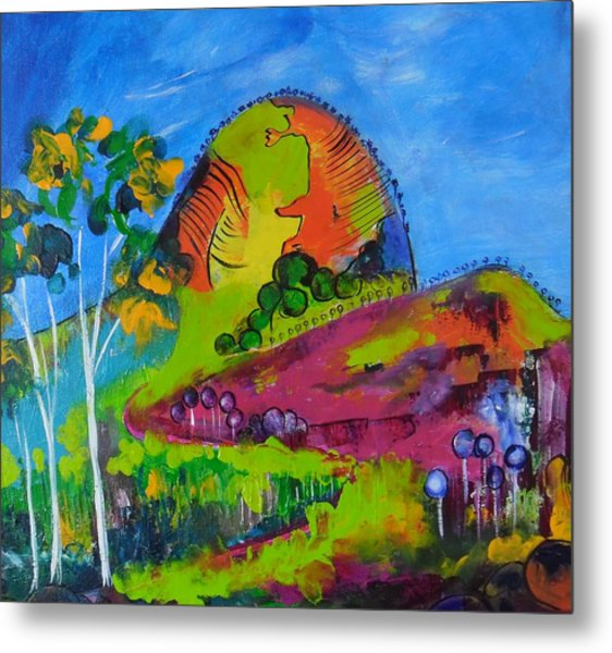 Lollipop Mountain Metal Print