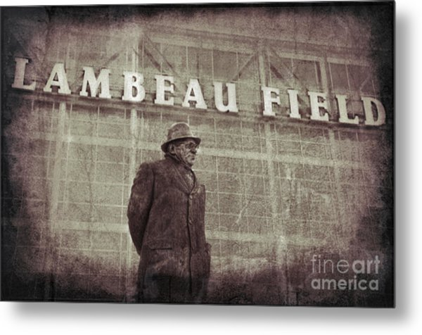 Lombardi At Lambeau Metal Print