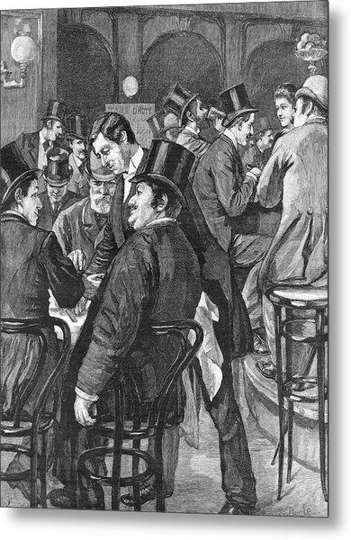 London Businessmen At Lunch, 1891 Metal Print by  Illustrated London News Ltd/Mar