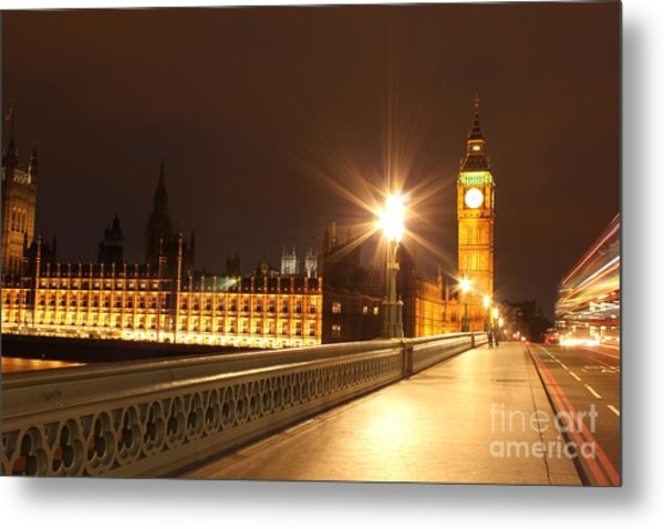 London By Night Metal Print