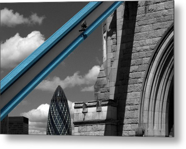 London City Frame Metal Print