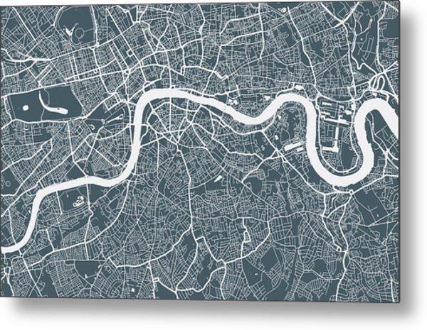 London City Map Metal Print by Mattjeacock