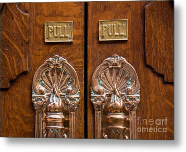 London Coliseum Doors 02 Metal Print
