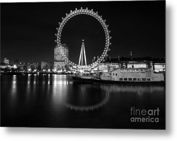 London Eye Mono Metal Print
