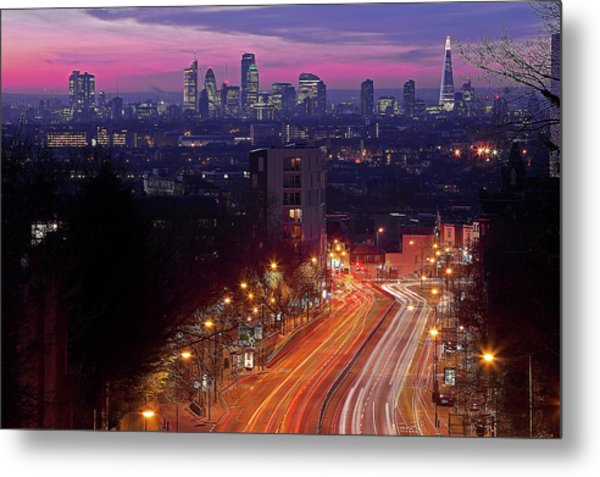 London From The Hornsey Lane Bridge Metal Print by By Andrea Pucci