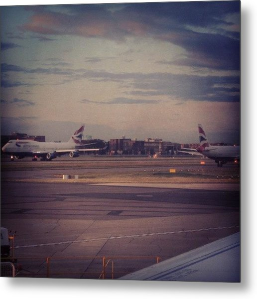 #london #heathrow #britishairways Metal Print