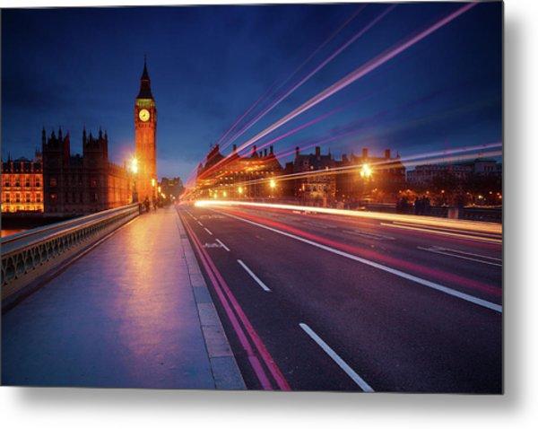 London In The Night Metal Print
