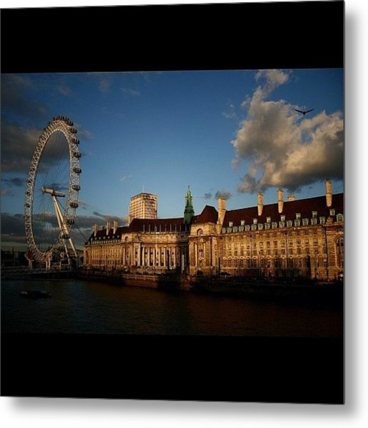 #london #londoneye #westminsterbridge Metal Print