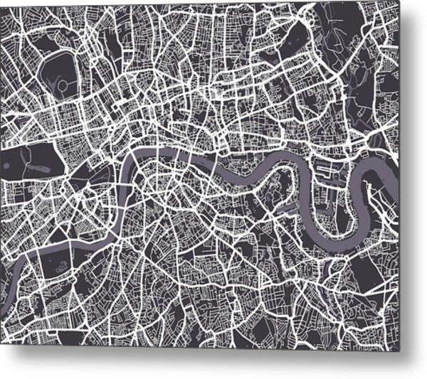 London Map Art Metal Print