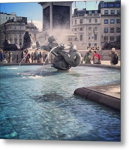 #london #piccadelly #water #uk Metal Print