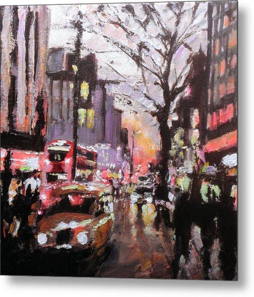 New York Taxi Street City Canvas Wall Art Picture Print Va: London Rainy Street 1 Painting By Paul Mitchell