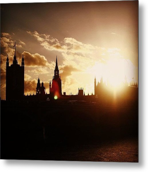 #london #westminster #parliamenthouse Metal Print
