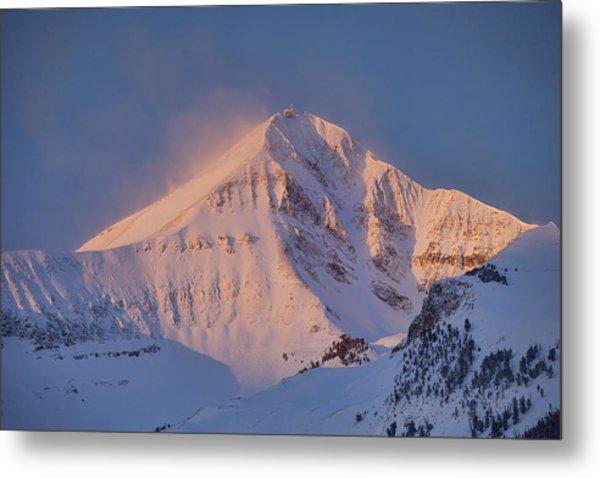 Lone Peak Alpenglow Metal Print