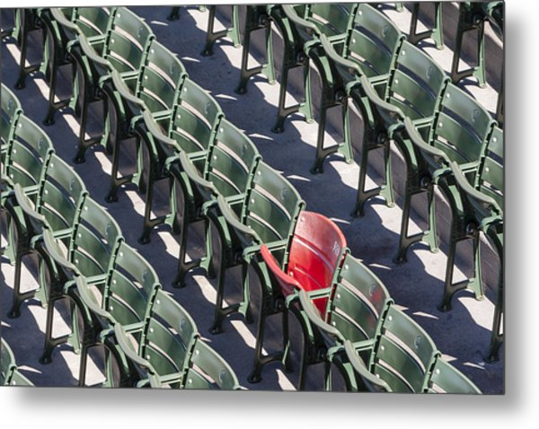 Lone Red Number 21 Fenway Park Metal Print