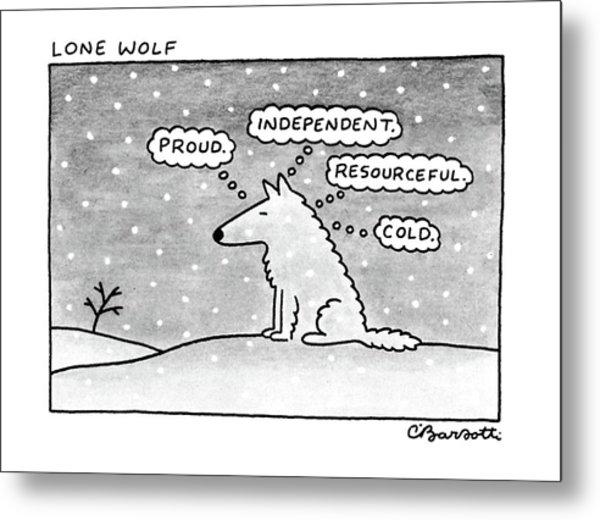 Lone Wolf: Metal Print