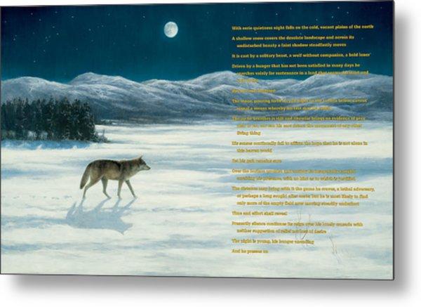 Lone Wolf In Winter   Version 1 Metal Print by Steve Swavely
