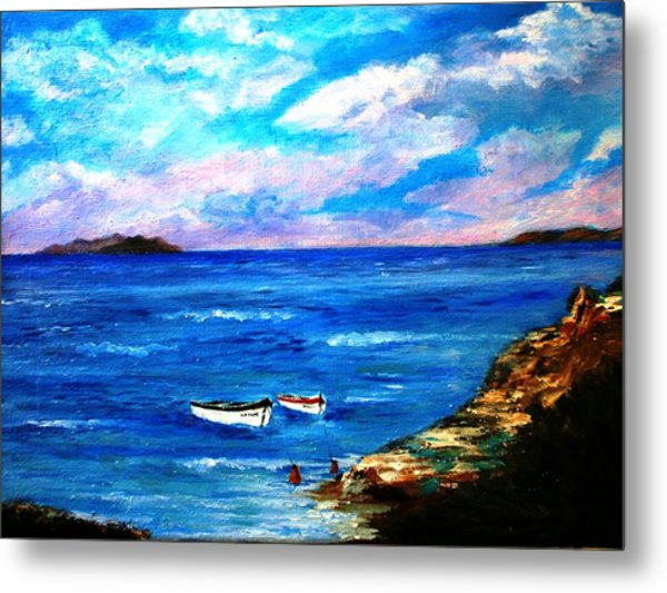 Lonely Boats Metal Print
